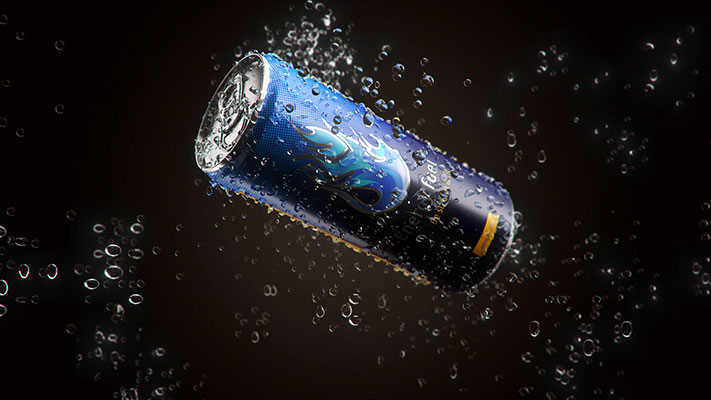 3D Visualization - Energy Drink - rys.1