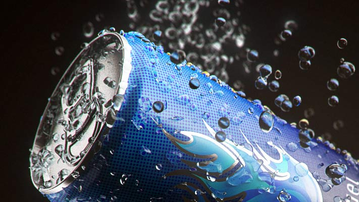 3D Visualization - Energy Drink - rys.2