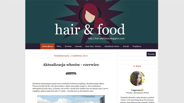 Web Site Design - Hair and Food - rys.2