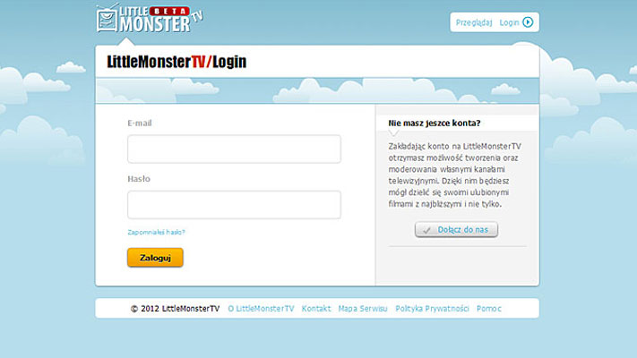 Projekt serwisu www - Little Monster TV - rys.3