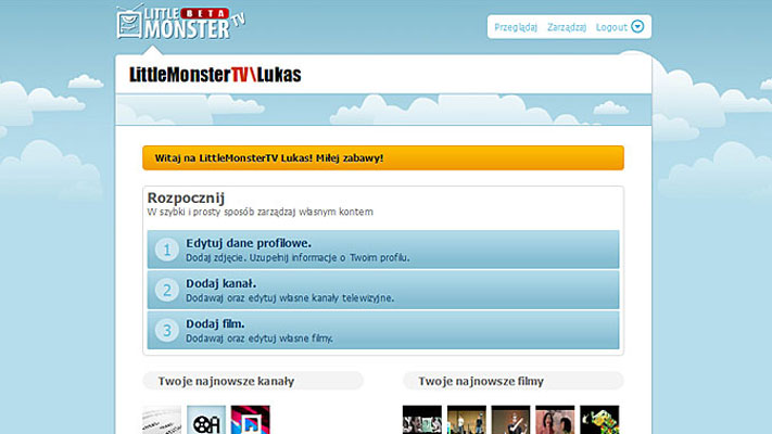 Projekt serwisu www - Little Monster TV - rys.4