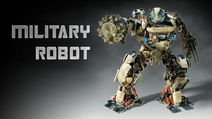 3D visualizations - Military Robot - rys.1