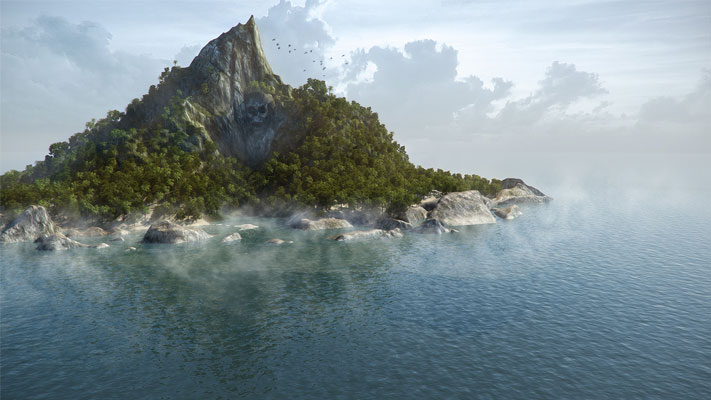 3D Visualization - Treasure Island - rys.1