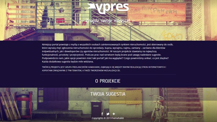 Web Site Design - YPRES - rys.3